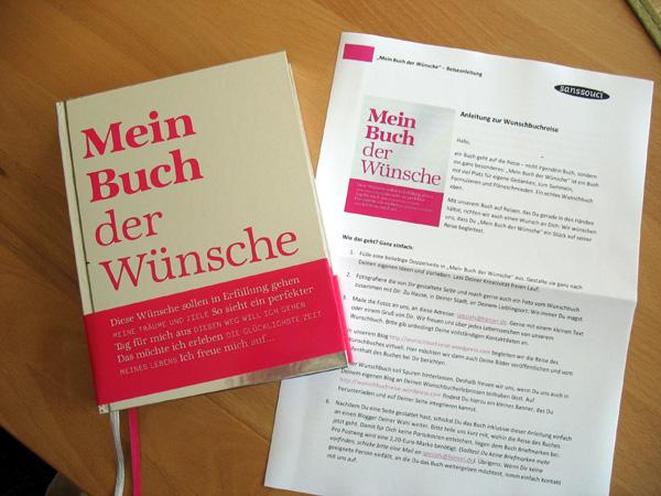 Mein Buch der Wünsche ist bei Kossi angekommen